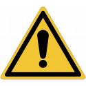 """Cartelli ISO 7010 """"Pericolo generico"""" - W001"""