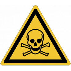 "ISO 7010 General Warning Sign ""Toxic Materials"" - W016 Shop"