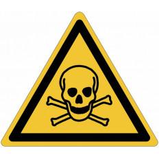 """Señales autoadhesivos EN ISO 7010 """"Materiales tóxicos"""" W016"""
