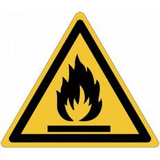 "Panneaux adhésifs danger ""Matières inflammables "" ISO 7010 -"