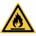 Знаки опасности ISO 7010 «огнеопасный материал»-W021