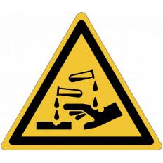 ISO 7010 знаки опасности «коррозионное»-W023