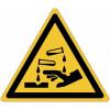 """Señales autoadhesivos EN ISO 7010 """"Substancias corrosivas"""" W023"""