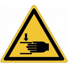 """Señales autoadhesivos EN ISO 7010 """"Peligro de aplastamiento de las manos"""" W024"""