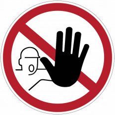 """Sinais de proibição """"Proibido o acesso as pessoas não"""
