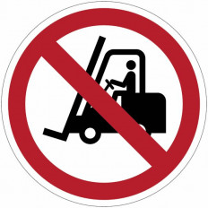 "Ban sign ""No Forklift Trucks"" - P006 Shop Online"