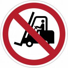 Panneaux d'interdiction ISO 7010 «interdit aux chariots