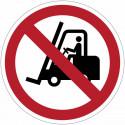 """Señales de prohibición - """"Prohibición de carretillas elevadoras con horquillas"""" - P006"""