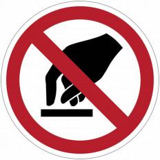 "Señales de prohibición - ""Prohibido tocar"" - P010"
