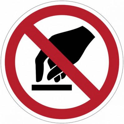 """Señales de prohibición ISO 7010 """"prohibición el tránsito para carretillas""""-P006"""