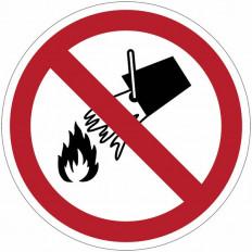 """Panneaux d'interdiction ISO 7010 """"Interdiction d´éteindre avec"""