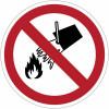 Знаки запрещения ISO 7010 «запретили транзит погрузочная техника»-P006