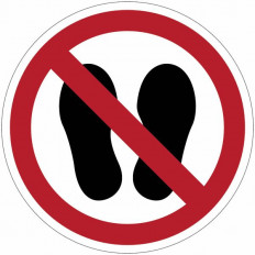 "Ban sign ""No shoes"" - P024"