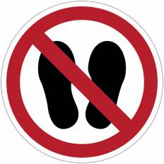"""Panneaux d'interdiction ISO 7010 """"Défense d'entrer avec des chaussures"""" - P024"""