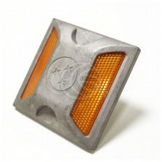 Riflettore Catarifrangente stradale in alluminio calpestabile