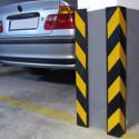 Protector de esquinas reflectante en caucho para garajes y áreas de aparcamiento – amarillo y negro