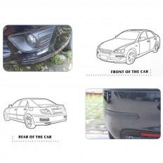 Noir de carbone protecteur porte voiture avec WRC