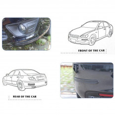 Preto de carbono de protetor de porta de carro com WRC