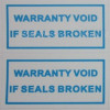 100 pezzi Etichette label adesive sigilli di garanzia 10x20mm
