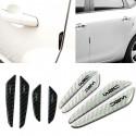 Protezione portiera auto colore nero/bianco carbonio con scritta WRC