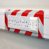 Cinta adhesiva reflectora de señalización de 50 mm rojo-blanco