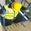 Láminas adhesivas antideslizantes señal rayas amarillo/negro escaleras exterior pisos de 50 m m