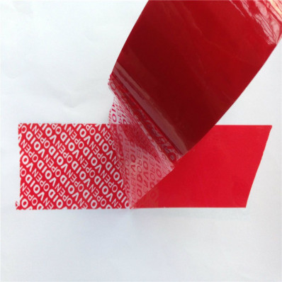 Anti sabotage ruban rouge 50 mm x 50 MT manipulation