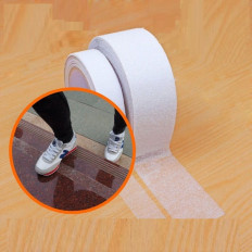 Non-slip adhesive film tape strips transparent internal external measures