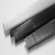 Lámina en vinilo adhesivo de aluminio cepillado en 3 colores