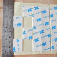 3M™ T1600 PE FOAM VHB Double Sided Acrylic Foam Mounting Square Decals - 100 pieces (25x25mm)