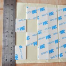 100 Quadrados em adesivo Dupla Face 3M™ T1600 PE FOAM VHB em