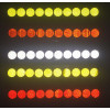 10 reflective circular decals/ stickers for truck wheel bolts -