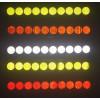 Suchen reflektierende Aufkleber 10 Stück 27mm Durchmesser Abdeckung Radschrauben LKW