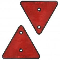 2 catadióptricos triangulares traseros perforados homologados