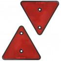2 перфорированные задние светоотражающие треугольники типа красные рефлекторы