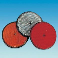 2 adesivi Catarifrangenti riflettenti in plastica rigida in 2 colori