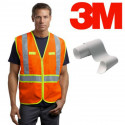 3M™ 8906 high visibility silver reflective fabric sew on tape - 50 mm