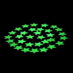28 estrellas adhesivas fotoluminiscentes que brillan en la