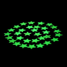 28 Phosphorescent sticky stars that glows in the dark Shopping