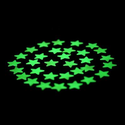 Estrellas adhesivas luminiscentes fosforescentes ilumina las oscuras piezas 2,5 cm 28