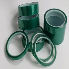 Cinta adhesiva verde en silicona de enmascaramiento para