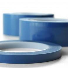 Голубая лента силикона высокой температуры полиэстера 66mt