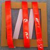 Nastro in PVC riflettente fluorescente da cucire sui vestiti rosso 25mm