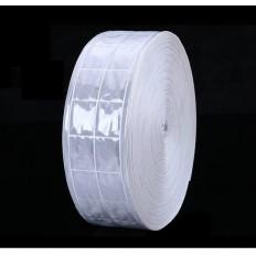 Banda de coser gris plateado reflectante en PVC - 25/50 mm