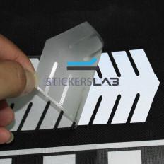 Cinta Adhesiva Reflectante plateada termo soldable a flechas -