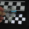 Светоотражающий тепла Световозвращающая пленка Серебряный клетчатый флаг 50 мм x 1 м
