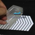 Отражающие Серебряный светоотражающий тепла фольга мини-Шеврон 50 мм x 1 м