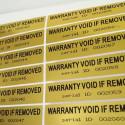 100 etichette adesive sigillo di garanzia con ID seriale