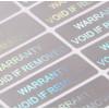 35 Sticker Dichtungen Garantie und Sicherheit Hologramme 1 x 3 cm