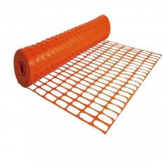Red de seguridad para obras de construcción en plástico naranja